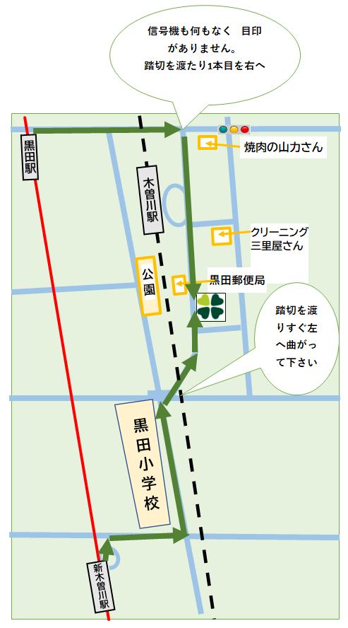 黒田駅 新木曽川駅 木曽川駅からの 徒歩での来院方法